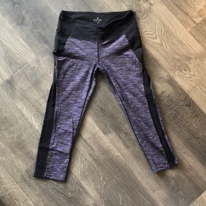 Purple and black leggings